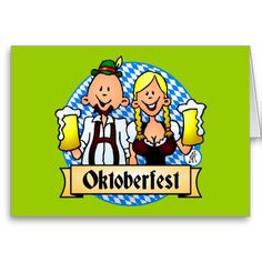 Oktoberfest Greeting Cards. #Zazzle #Cardvibes #Tekenaartje #SOLD