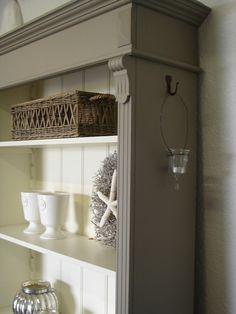 Riviera Taupe/Old White Furniture Update, Refurbished Furniture, Furniture Projects, Furniture Makeover, Cool Furniture, Painted Furniture, Country Interior, Painting Cabinets, Furniture Inspiration