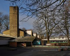 hans chr. hansen, architect: hanssted skole / school, copenhagen 1954-1959   Flickr - Photo Sharing!