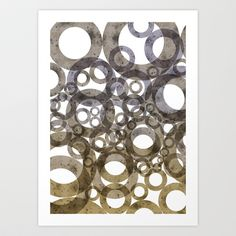 O. Art Print by Angelo Cerantola - $18.00