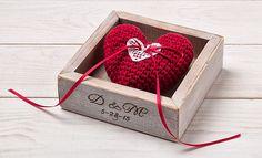Wedding Ring Box Ring Holder Rustic Ring Box Ring Pillow