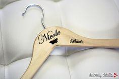 bride's hanger wedding dress