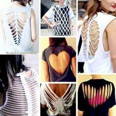Diseños de blusas DIY espalda