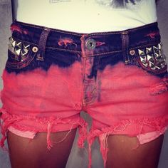 Distressed shorts.... Funky but super cute and fun for the summer :)