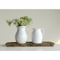 Creative Co-Op is a home, seasonal decor & fashion accessories wholesaler. We offer 80 oz.Terra-cotta Pitcher, White & more. Farmhouse Style Kitchen, Modern Farmhouse Style, Backyard Farmer, Country Breakfast, Christmas Living Rooms, Christmas Kitchen, Copper Rose, Rose Gold, Creative Co Op