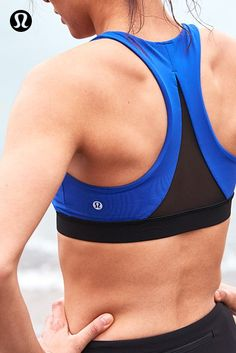 lululemon sports bras are designed with mesh ventilation for your sweatiest pursuits