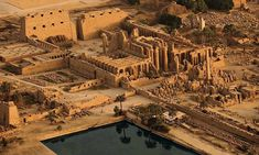 Karnak - Amun-Ra Temple ..Luxor, with the sacred lake in the foreground