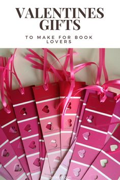 Sweet bookish valentines gifts you can DIY.
