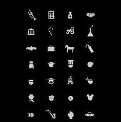 A serie of icons I did for magazines, companies, institutions...