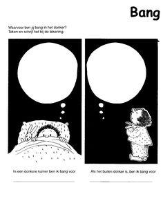 bang-werkblad.GIF (1151×1565) Creative Writing, Bangs, Diy And Crafts, School, Teaching, Drawings, Monsters, Image, Halloween
