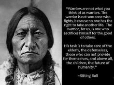 The first Americans ~ Warrior defined.