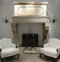 Louis XIV Trumeau Cheminée from a Maison Bourgoise in Dancevoir, a town in the Champagne-Ardenne Region of France, pictured here in the Chateau Domingue showroom