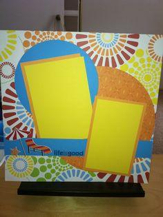 Creative Memories scrapbook page. Cheerful Summer addition