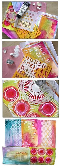 """Add white to """"pop"""" your art and add depth. Found on couleur-scrap.over-blog.com Simple Pleasures Rubber Stamps and Scrapbooking."""