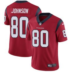 Youth Nike Houston Texans #80 Andre Johnson Elite Red Alternate NFL Jersey