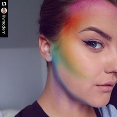 Rainbow makeup                                                                                                                                                                                 More
