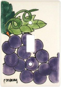 Grape Light Switch Plates, Outlet Covers, Wallplates