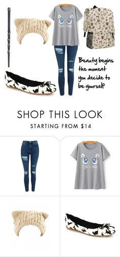 """""""Train Journey ~ Kaitlin Marsh (First Year)"""" by angel-mae-dreams ❤ liked on Polyvore featuring Topshop"""