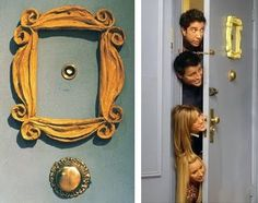 Peephole frame from Monica's apartment on Friends | Cool TV Props