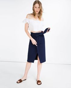 Image 1 of PENCIL SKIRT WITH BELT from Zara