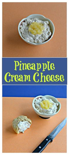 Cream cheese mixed with pineapple and spices is delicious on muffins, toast, or any baked good! #creamcheese #pineapplerecipe #easyrecipes | Easy Recipes | Pineapple recipes | Cream Cheese | Breakfast Recipes Pineapple Cream Cheese Recipe, Pineapple Recipes, Other Recipes, Easy Recipes, Easy Meals, Delicious Recipes, Flavored Cream Cheeses, Cream Cheese Recipes, Sauce For Vegetables