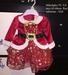 Śliczna sukienka mikołajka jedyna taka 3-6mcy http://dzieciociuszek.pl/products/31714