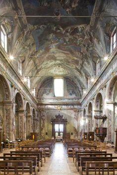 Chiesa dei Santi Bartolomeo e Stefano - Bergamo (Italia) - Veduta dell'interno verso la controfacciata