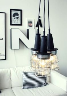 Industrial styled DIY pendants