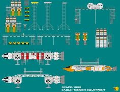 Space 1999 Eagle Hanger Equipment by ArthurTwosheds.deviantart.com on @DeviantArt