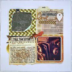 Tell the Story 12×12 Layout by Jenni Calma: