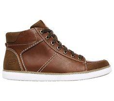 Skechers Men's Helmer Granite Mid Top Sneakers (Tan)