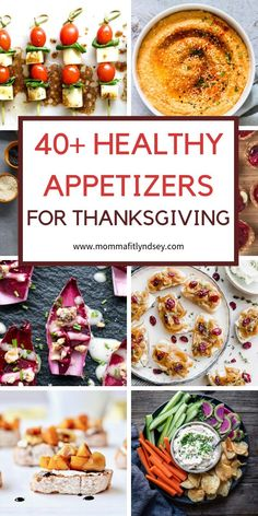 Need appetizer recipes for Thanksgiving? Here are over 40 healthy appetizer ideas for Thanksgiving Christmas and the holidays! Easy to make and many can be made ahead. Delicious finger foods many are Make Ahead Appetizers, Low Carb Appetizers, Appetizer Recipes, Appetizer Ideas, Holiday Appetizers, Appetizer Dessert, Snack Recipes, Holiday Snacks, Yummy Snacks