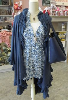 April Marin Shawl and Rock Flower Paper Tunic