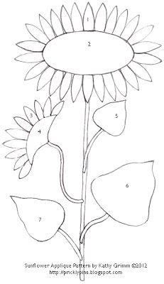 FREE SUNFLOWER APPLIQUE PATTERNS | APPLIQ PATTERNS