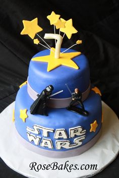 A Star Wars Birthday Cake + Recipe for Durable Chocolate Cake
