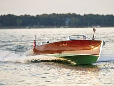 "pixelsHornet's"" gleaming varnished mahogany – Photo courtesy Wayne Davis / Freedom Boat Service – RM Auctions Wooden Speed Boats, Chris Craft Boats, Runabout Boat, Classic Wooden Boats, Old Boats, Love Boat, Wooden Ship, Yacht Boat, Boat Design"