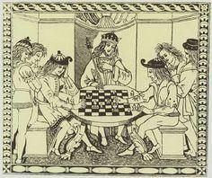 Jeu de dames XVl  siècle  Jouissive   LouisXIV Roy FRANCE