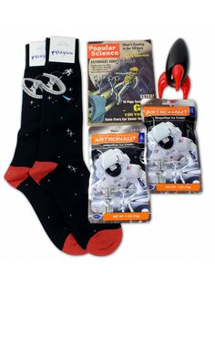 """""""Zero G"""" Gift Box by Soxfords contains all the essentials for the armchair astronaut!   #space #gifts #style"""