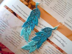 Lace Earrings - Cyan Dream from Lace-Design by DaWanda.com