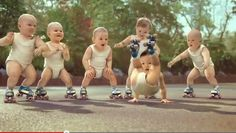 Evian's 2009 ad featuring a gang of break-dancing, roller-skating baby dancers has largely been credited with (or blamed for) the goofy baby trend.