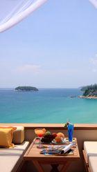 Summer Breakfast Ocean View Samsung Galaxy S5 Wallpapers