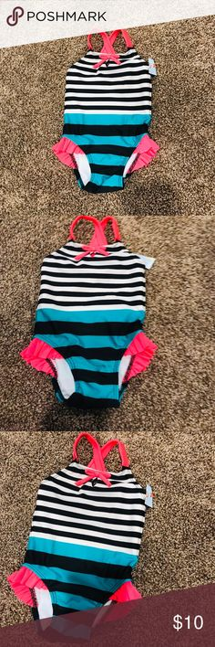 866f84a33b Shop Kids' Cat & Jack size One Piece at a discounted price at Poshmark.  Description: ✅NWT ✅Cute eyelet and bow at the top.
