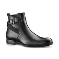 Sketch ankle boot in calf via Louis Vuitton