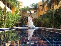 First kiss as husband and wife. Riviera Maya wedding!    Photo by Ocean Photo Studio