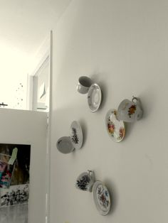 cups and plates on my wall