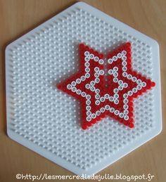 Kids Art/Craft - 3D Christmas Holiday Star hama fuse perler beads ornament