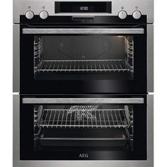 Buy AEG Built-Under Multifunction Double Electric Oven, Stainless Steel from our Built in Ovens range at John Lewis & Partners. Under Counter Double Oven, Built Under Double Oven, Double Ovens, Stainless Steel Double Oven, Stainless Steel Appliances, Built Under Ovens, Electric Oven, Oven Cleaning