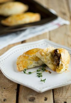 PORK & MUSHROOM HAND PIES. These hand pies make meals-on-the-go fun and stress-free. Made with a blend of ground pork and meaty mushrooms for a hidden serving of vegetables! These hand pies can easily be made ahead of time and frozen for up to 1 month and popped in the oven when ready to serve.