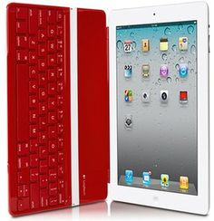 Logitech Ultrathin Bluetooth Keyboard, Cover & Stand for iPad 2, 3rd & 4th Generation w/ Clip and Go Design Red