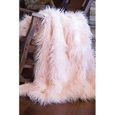 Faux Fur Throw Blanket, Mongolian Long Hair Pink Image 1 of 4 Large Throws, Large Blankets, Faux Fur Blanket, Faux Fur Throw, Pink Throws, Tie Dye Techniques, Babe Cave, Pink Faux Fur, Pink Hair